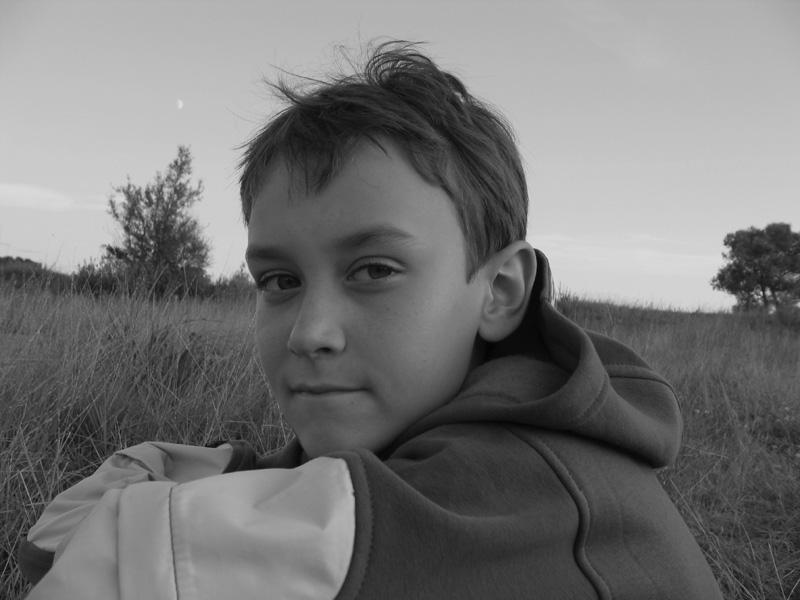 "photo ""A fisherboy"" tags: black&white, portrait, children"
