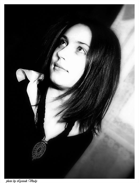 "photo ""Black and white"" tags: portrait, black&white, woman"