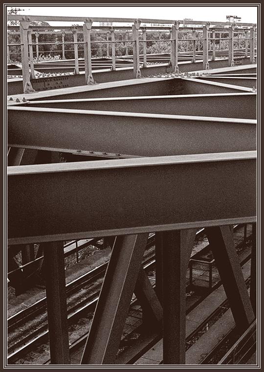 """фото """"Мост, рельсы"""" метки: пейзаж, черно-белые,"""