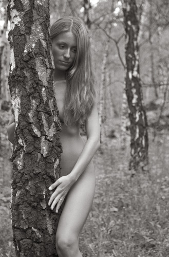"photo ""Birches"" tags: nude, portrait, woman"
