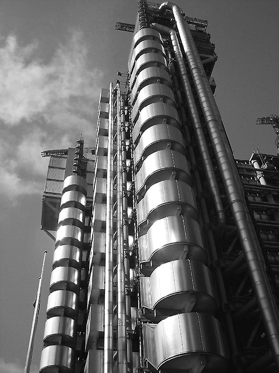 "photo ""Lloyd Building in London"" tags: architecture, landscape,"