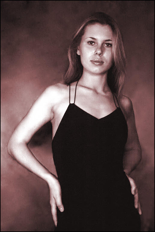 "photo ""Portrait in ''sepia'' style"" tags: portrait, black&white, woman"