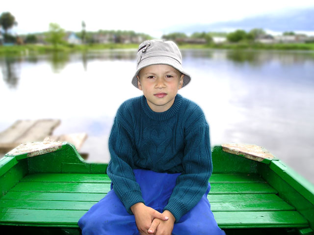 "photo ""in boat"" tags: portrait, children"