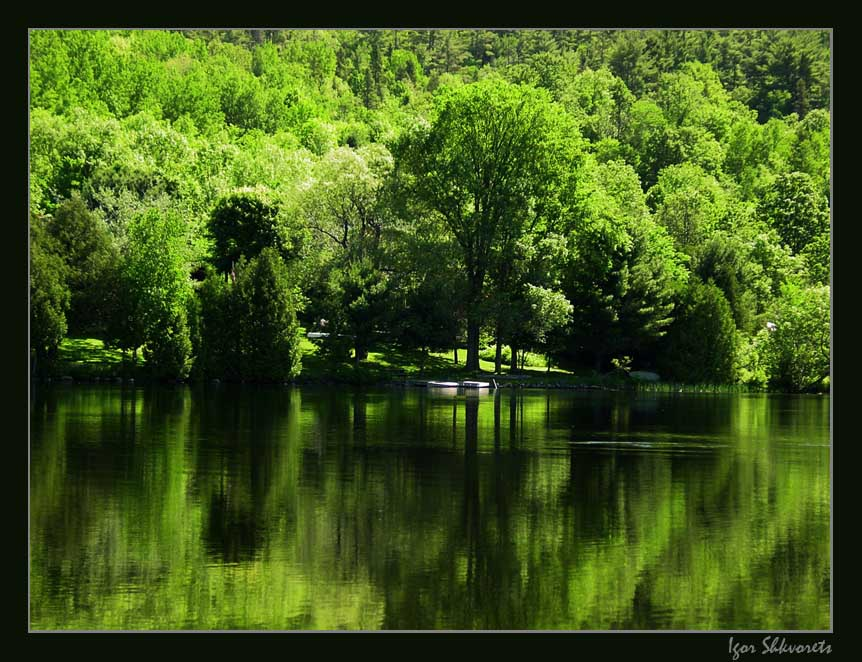 "photo ""Green Land"" tags: landscape, summer, water"