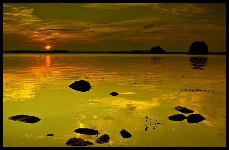 "photo ""Stones"" tags: landscape, sunset"