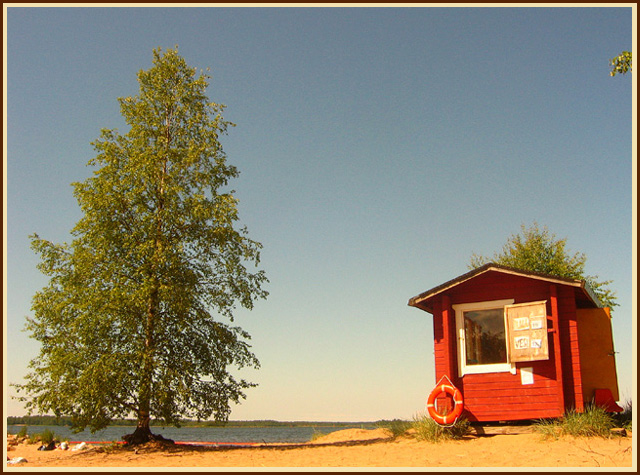 "photo ""A little seashore"" tags: landscape, montage, summer"