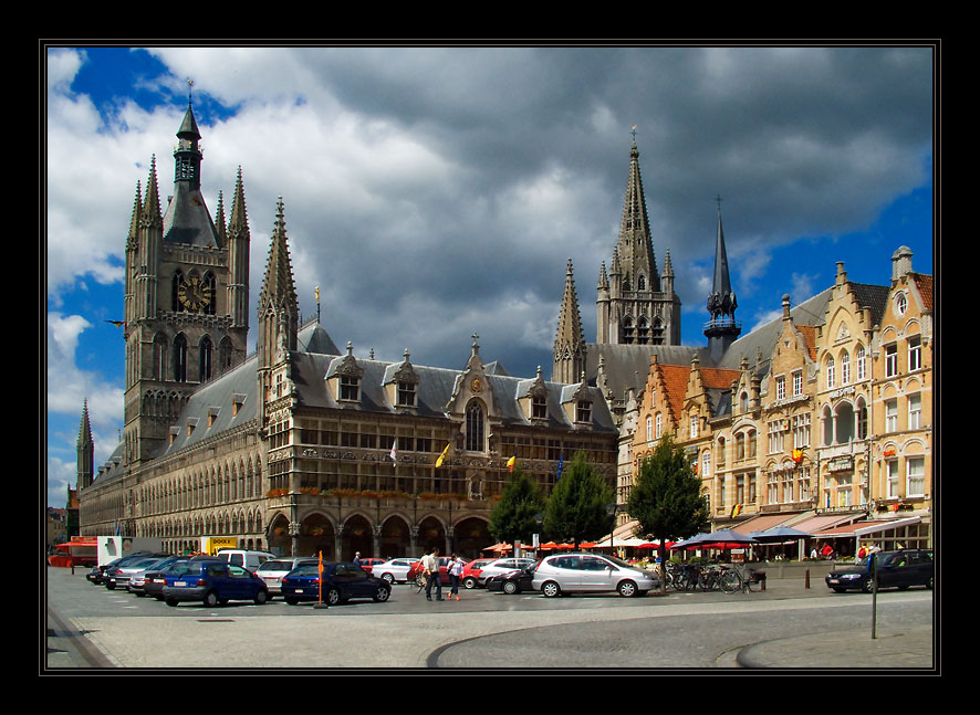 "photo ""The city of Ieper. The central area."" tags: architecture, travel, landscape, Europe"