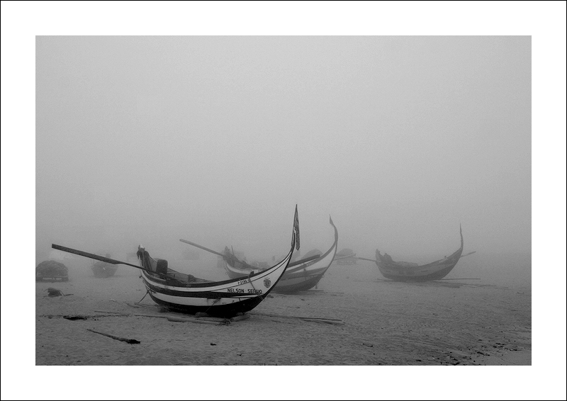 "photo ""In the fog"" tags: landscape, black&white,"