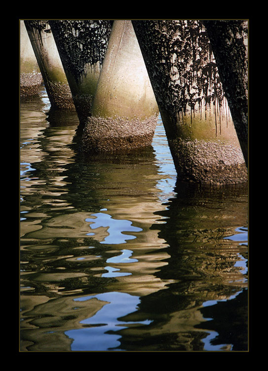 "photo ""Reflected columns"" tags: abstract, landscape, water"