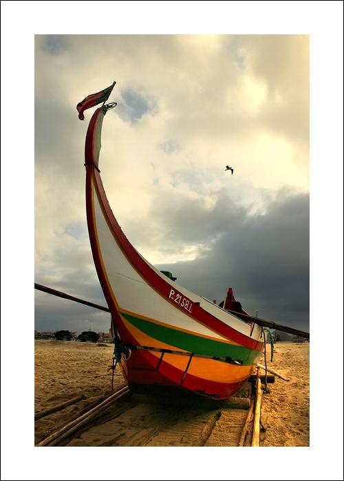 """фото """"Boat at sunrise"""" метки: пейзаж, закат"""
