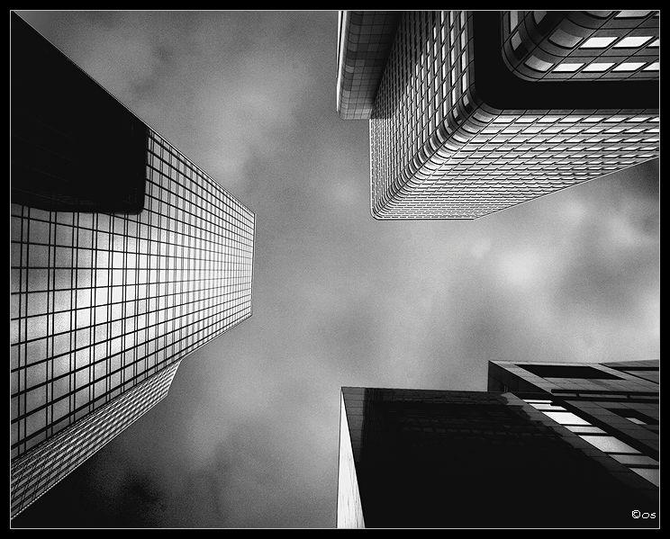 """photo """"Skyscrapers"""" tags: black&white, architecture, landscape,"""
