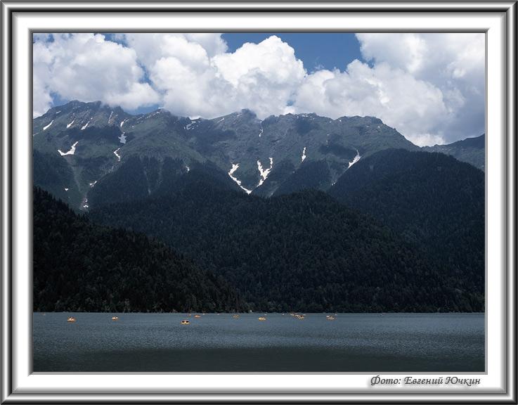 """фото """"Озеро Рица"""" метки: пейзаж, вода, горы"""