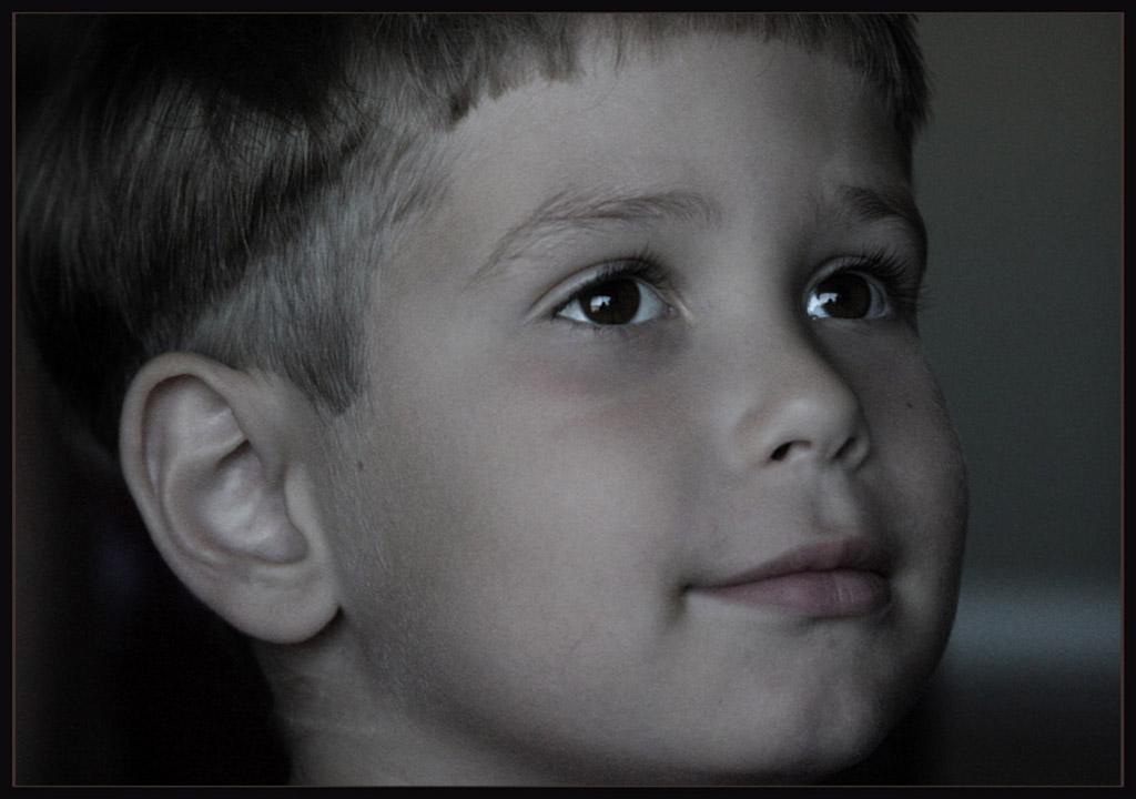 """photo """"a bit of a smile"""" tags: portrait, children"""