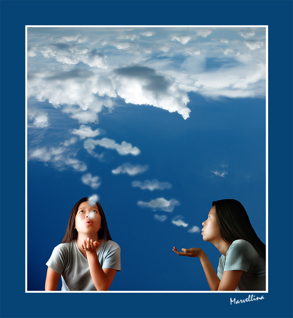 """photo """"smoke away..."""" tags: humor, montage,"""