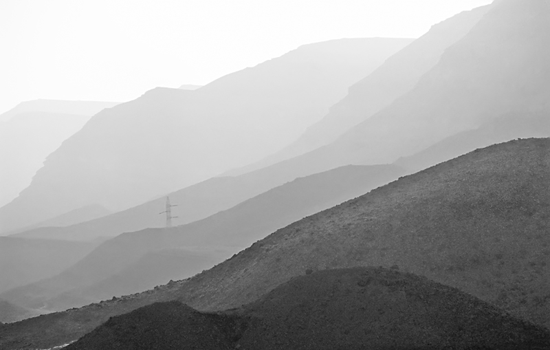 "photo ""Awakening of desert"" tags: travel, black&white, Asia"