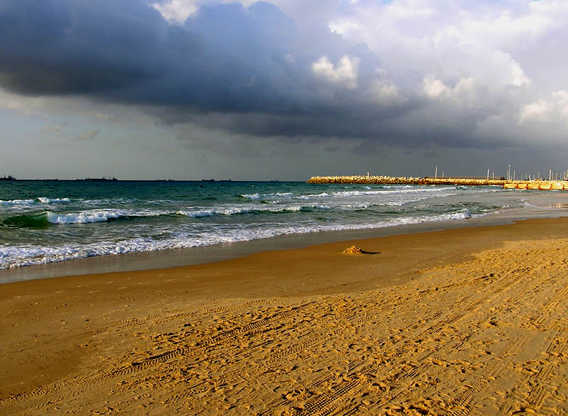 "photo ""Sea"" tags: landscape, clouds, water"