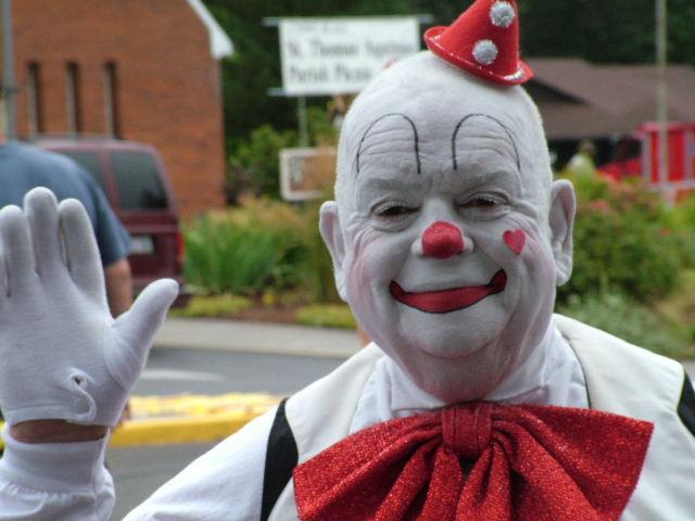 "photo """"Whitey"" The Clown"" tags: humor, portrait, man"
