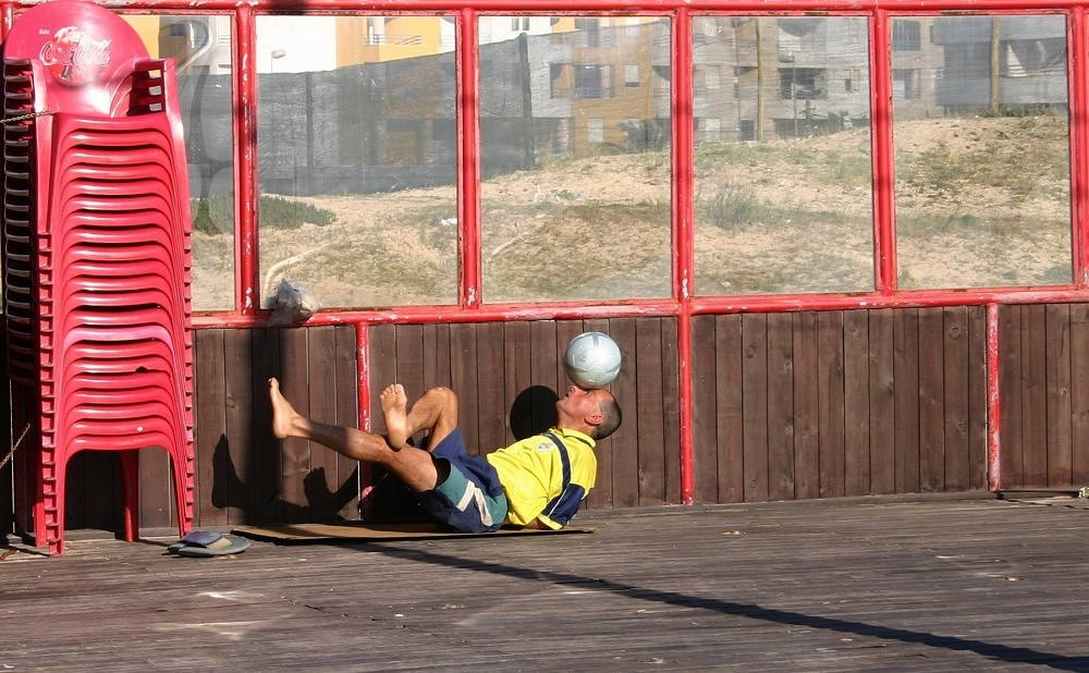 "photo ""Training with ball"" tags: sport,"