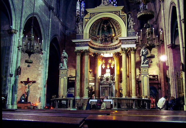 "photo ""Old chirch in Barcelona"" tags: travel, architecture, landscape, Europe"