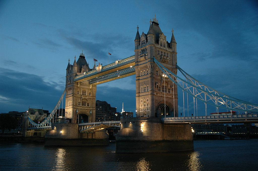 "фото ""Tower Bridge"" метки: архитектура, пейзаж, ночь"