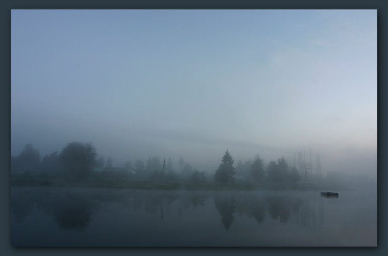 "photo ""Fog in the lake"" tags: landscape, night, water"