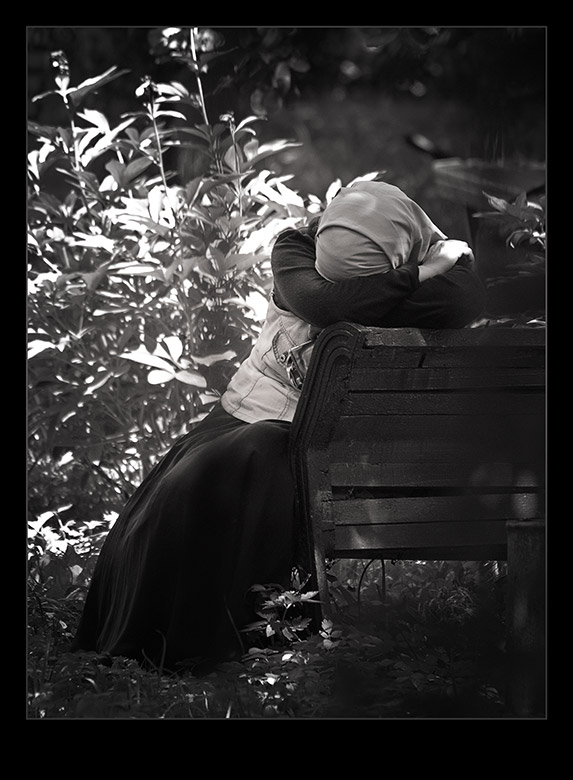 "photo ""Alone"" tags: genre, black&white,"