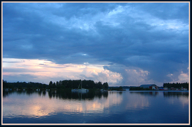 "photo ""Blue evening"" tags: landscape, sunset, water"