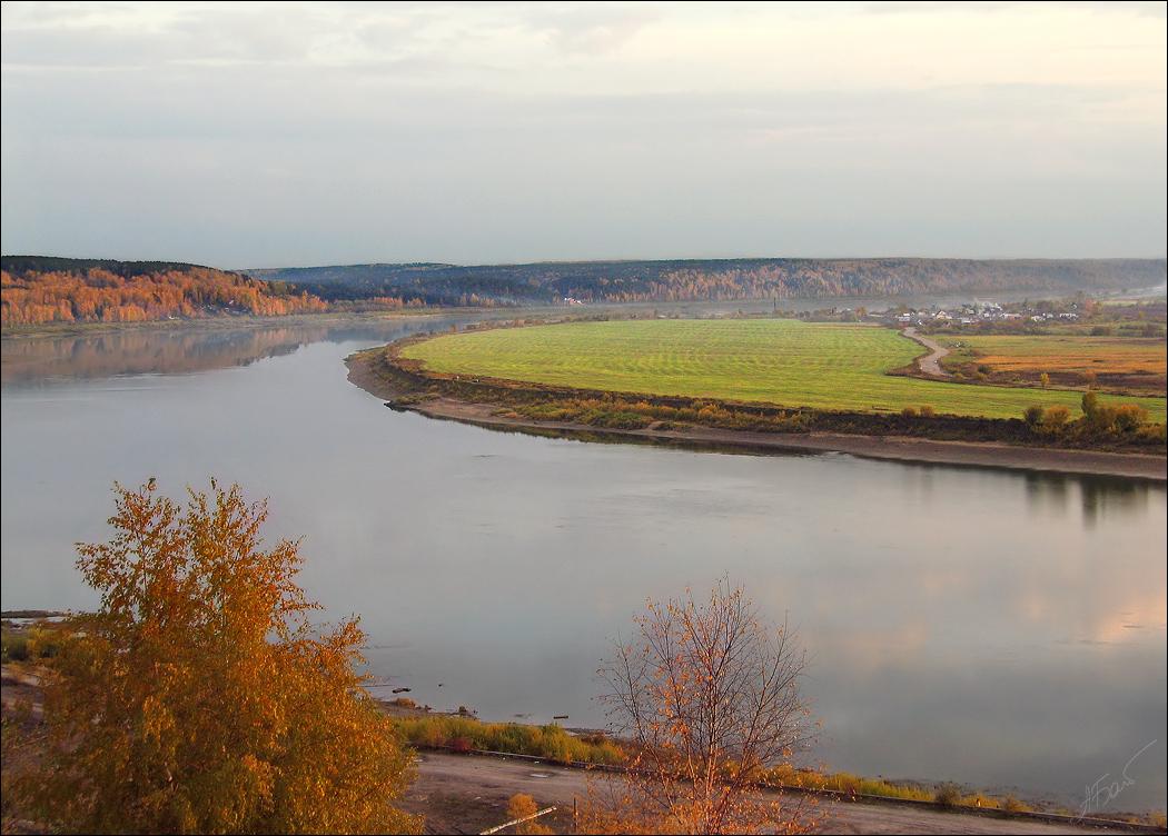 "фото ""Томь"" метки: пейзаж, вода, осень"