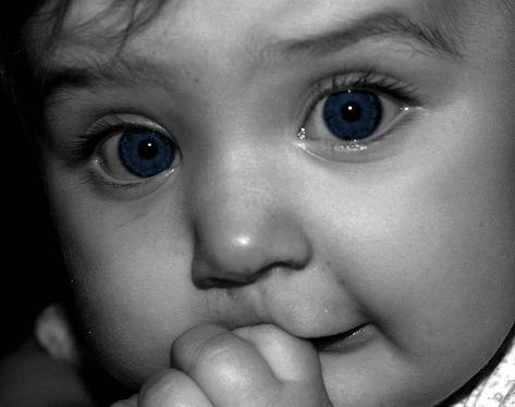 "photo ""Baby Blues"" tags: black&white, portrait, children"