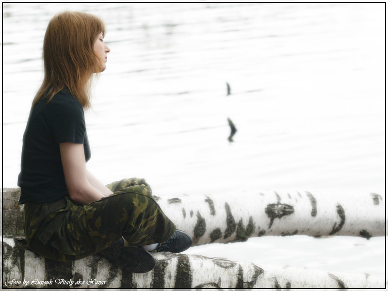 "photo ""Alone with nature"" tags: portrait, genre, woman"