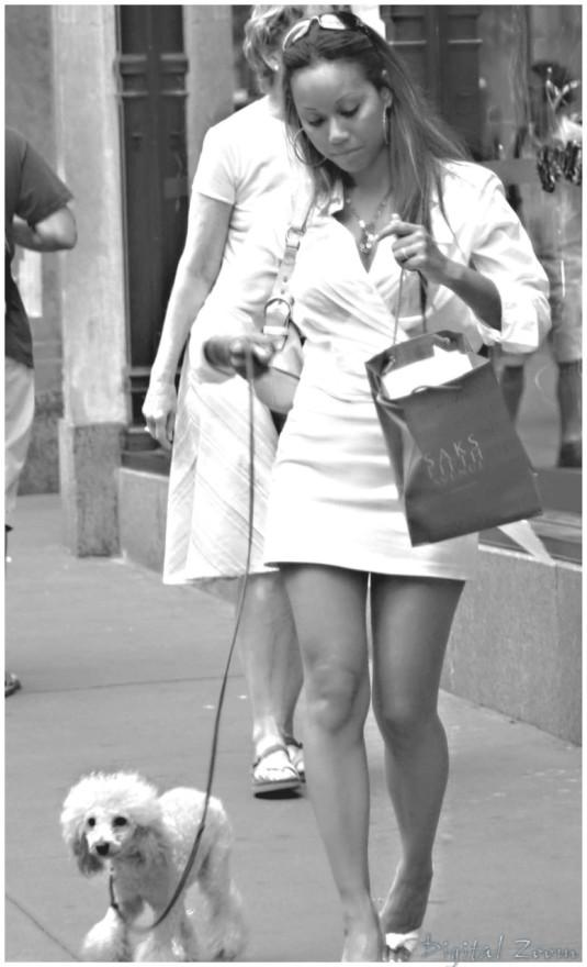 "photo ""walking"" tags: portrait, woman"