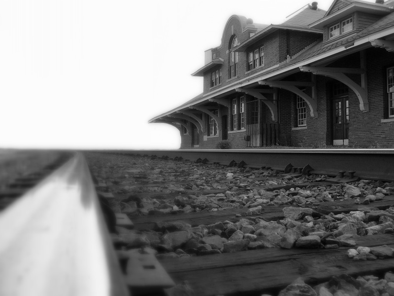 "photo ""The tracks of history"" tags: black&white,"