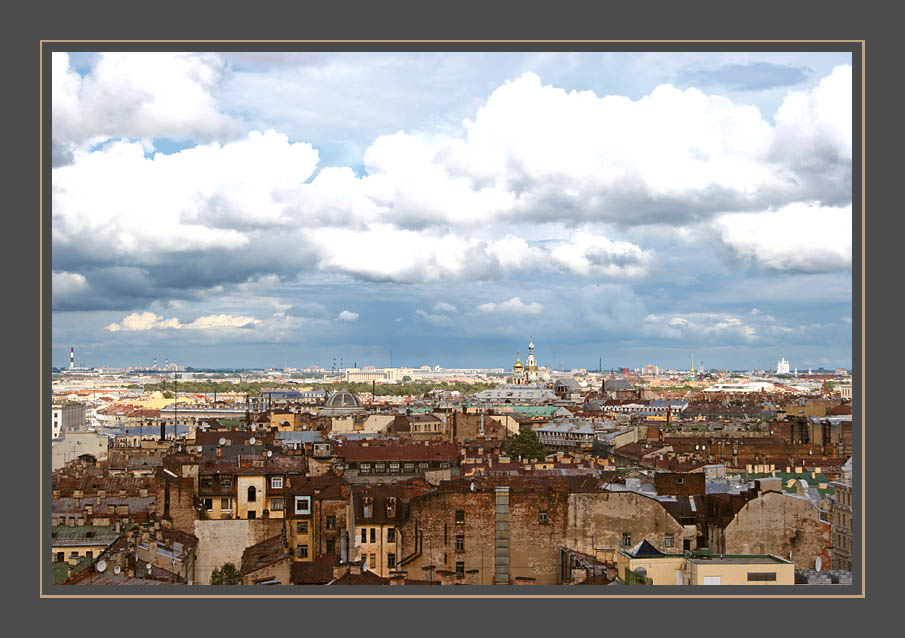 """photo """"Saint-Petersburg..."""" tags: architecture, landscape, clouds"""