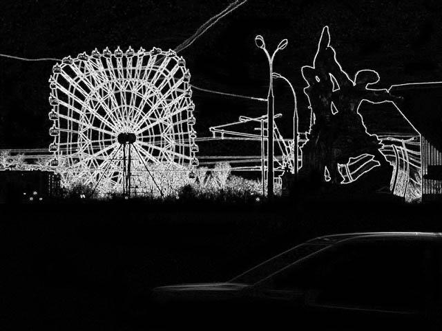 """photo """"Delirium"""" tags: black&white,"""