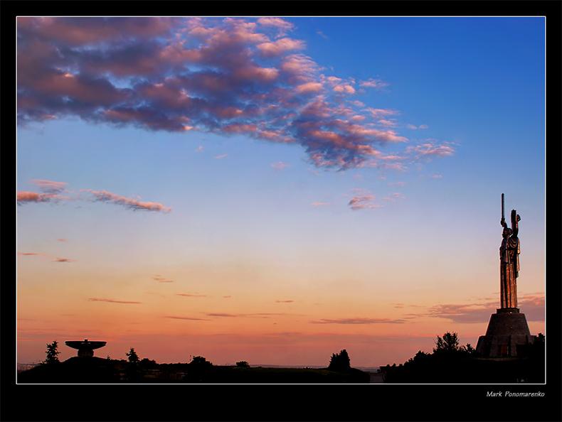"""фото """"дирижируя облаками..."""" метки: пейзаж, закат"""