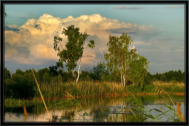"photo ""Summer evening"" tags: landscape, sunset"