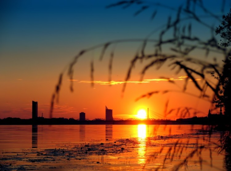"photo ""Sunset above Riga"" tags: landscape, sunset"