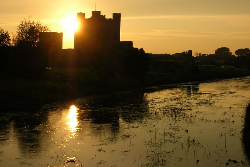 "photo ""Trim Castle & River Boyne"" tags: architecture, travel, landscape, Europe"