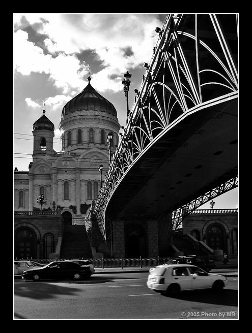 "photo ""Moscow Etude (1)"" tags: black&white, architecture, landscape,"