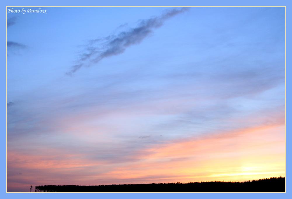 """фото """"Blue Sky"""" метки: пейзаж, весна, закат"""
