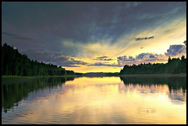 "photo ""Summer night light"" tags: landscape, night"