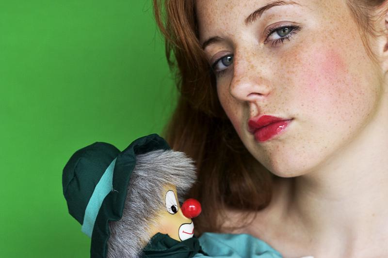 """photo """"The clown"""" tags: portrait, woman"""