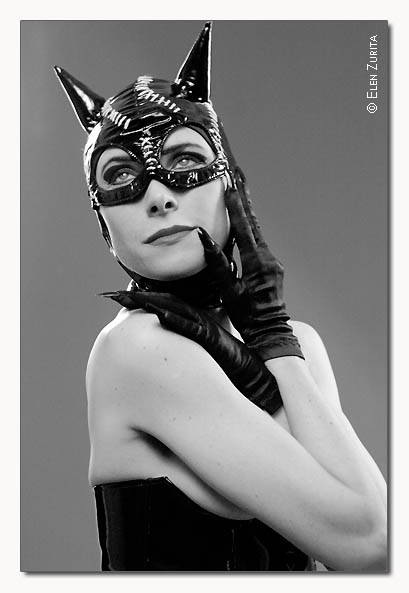 "photo ""Cat woman"" tags: portrait, woman"