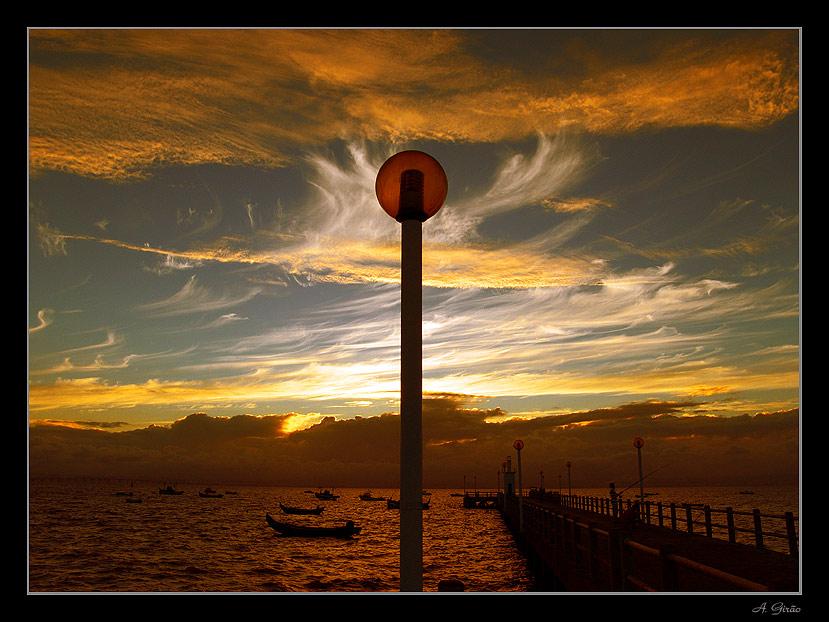 """фото """"Flames"""" метки: пейзаж, закат, облака"""