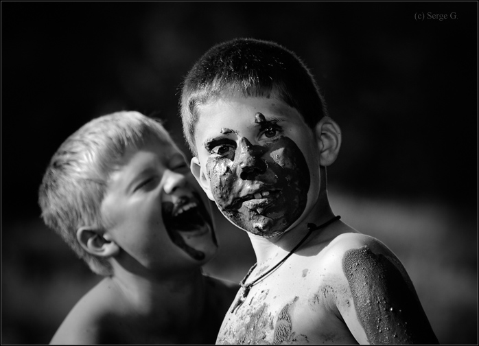 "photo ""*****"" tags: portrait, black&white, children"