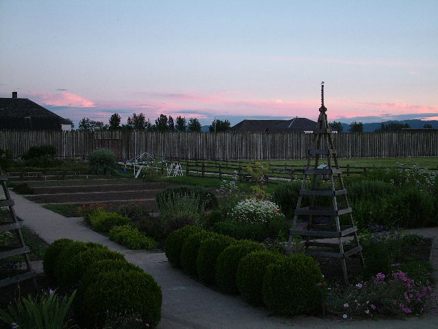 "photo ""Garden at the Fort"" tags: architecture, landscape, summer"