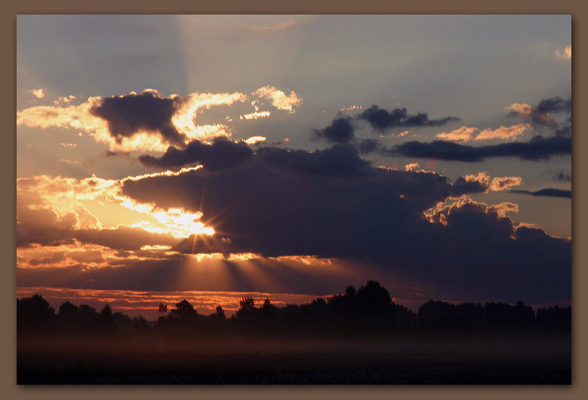 "photo ""Dawn at the end of July"" tags: landscape, summer, sunset"