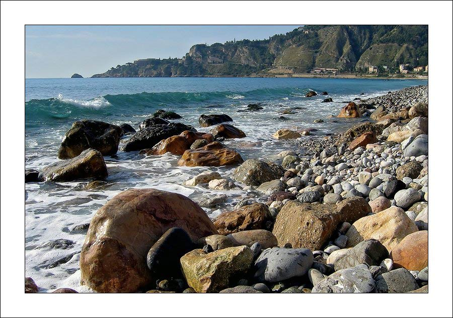 "photo ""Stones. Coast of Sicily."" tags: landscape, travel, Europe, water"