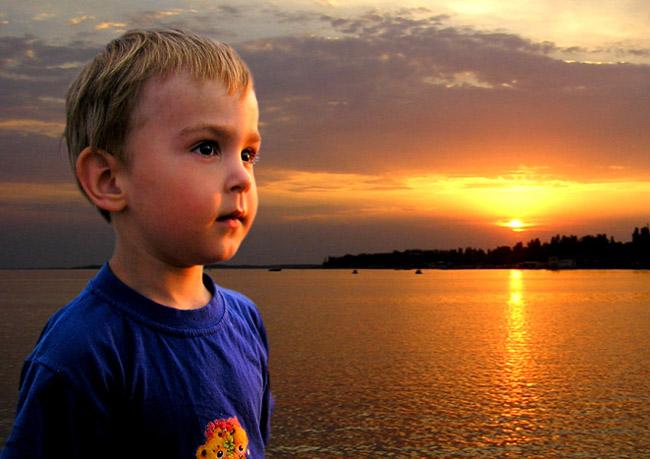 "фото ""закат"" метки: портрет, дети"