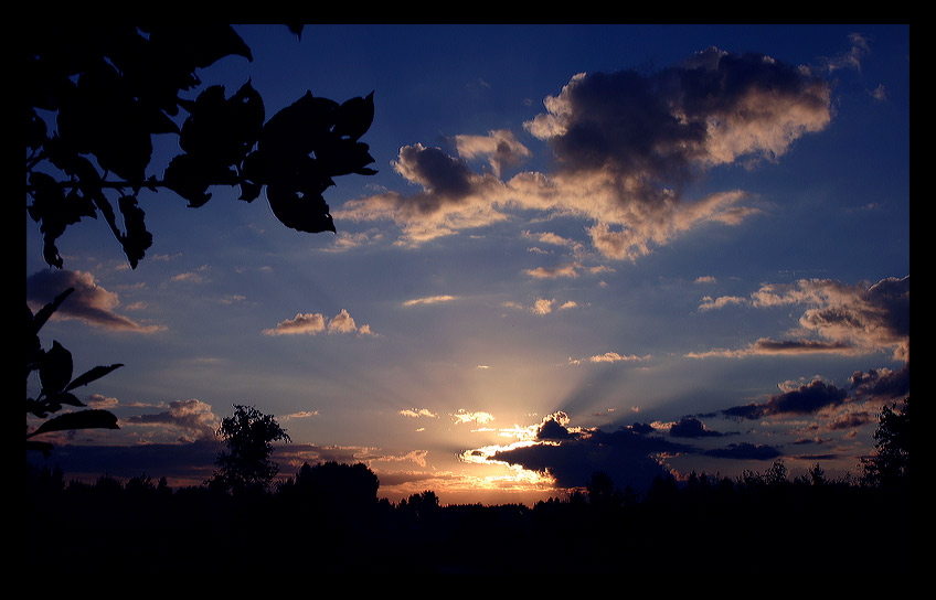 "photo ""Summer sky"" tags: landscape, clouds, sunset"